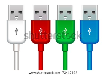 color set of four usb buses