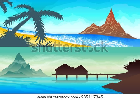 color set seascape  ocean  sea