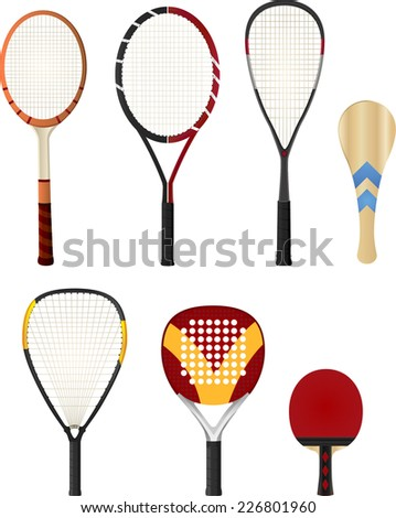 color silhouette rackets  with
