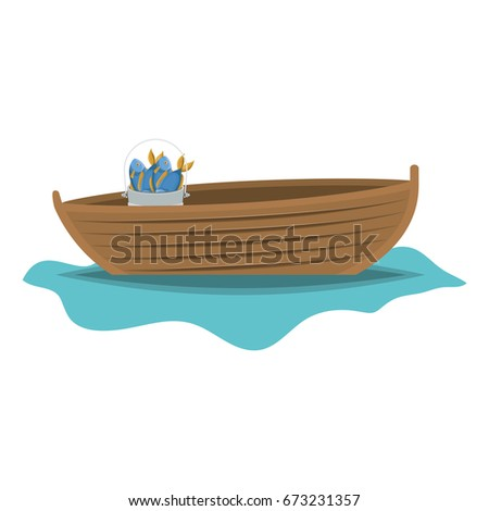 color silhouette wooden fishing