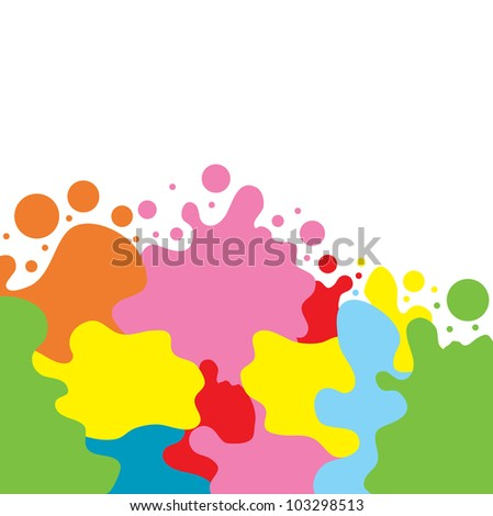 Color splashes vector background