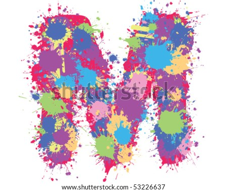 Color Splatter Vector Color Splatter m