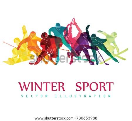color sport background hockey