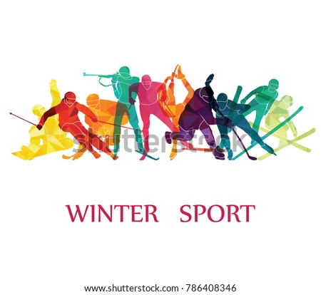 color sport background winter