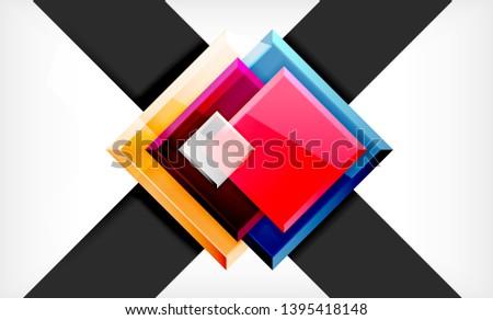 Color squares futuristic abstract background, vector futuristic blocks colorful design