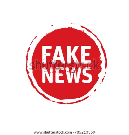 Color stamp and text Fake News. Vector Illustration.