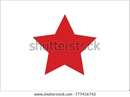 color star isolated on white background. Vector illustration for your graphic design. Star Icon.