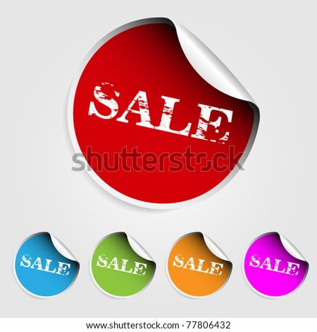 Color stickers with text sale