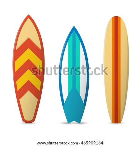 color surfboard set sea