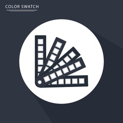 Color swatches palette vector icon