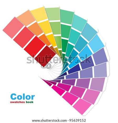 Color swatches. Vector illustration.