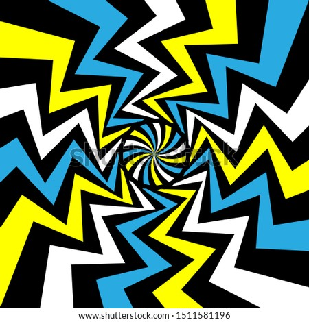 Color Swirling hypnotize spiral vector background