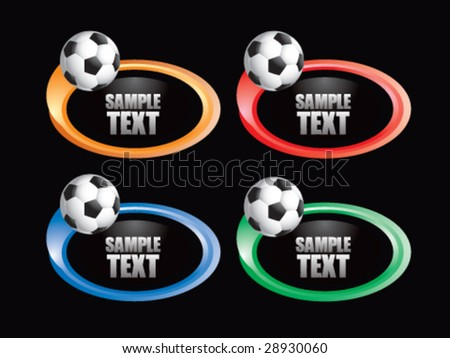 color swoosh soccer  icon