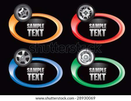 color swoosh tire  icon