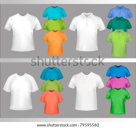 Color t-shirt design template. Vector illustration.