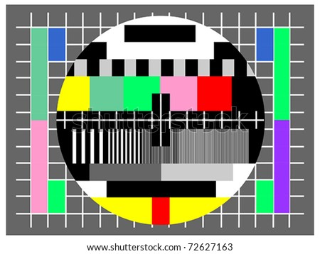 Color test for television , for checking quality. Also available as jpeg. - stock vector