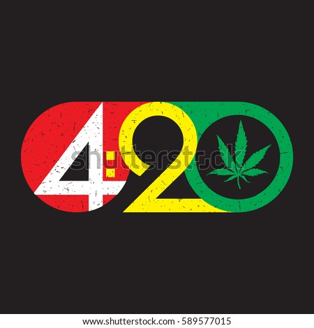 color text 420 with cannabis
