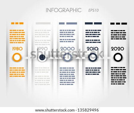 color timeline with rings an