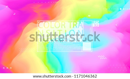 Color transition background. Poster design. Banner temolate. Splash. Motion. Trendy backdrop. Modern illustration. Futuristic. Stylish concept. Flyer. Poster.