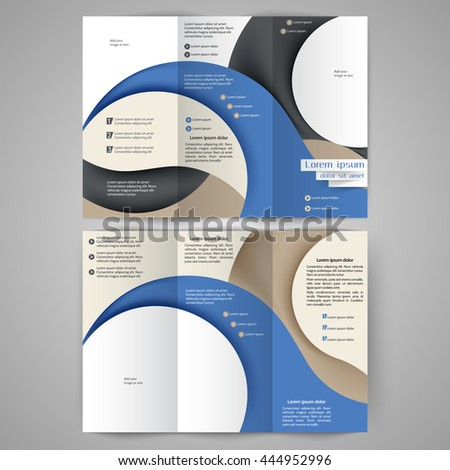 Abstract colored brochure template for your business ez canvas friedricerecipe Image collections