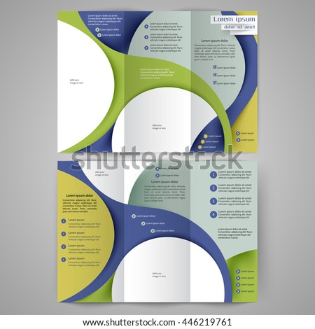 Color tri fold business brochure design template brochure layout color tri fold business brochure design template brochure layout with abstract lines and waves wajeb Images