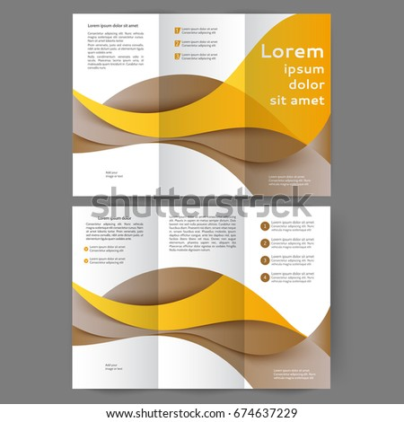 Color tri fold business brochure design template with abstract lines color tri fold business brochure design template with abstract lines and waves wajeb Images