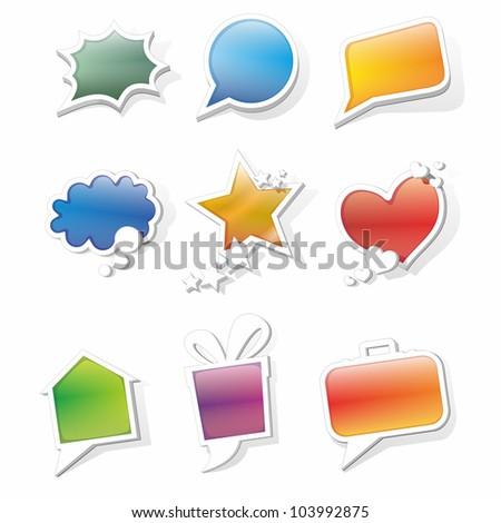 color vector bubbles for speech - stock vector