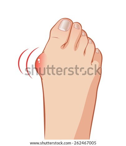 color vector foot with a