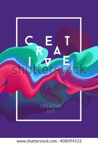 color vector poster bright