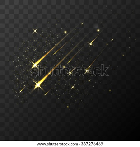 color vector shooting stars