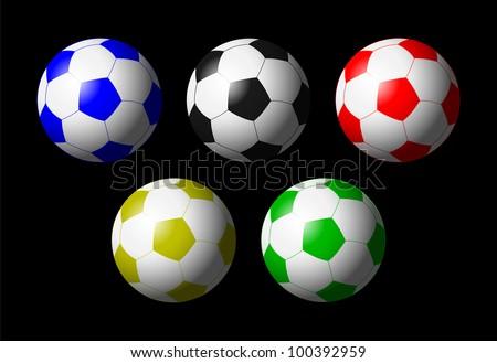 color vision footballs