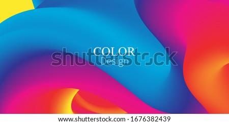 Color Waves Background. Fluid Flow. Ink Splash. Abstract Flow. Vibrant Color. Trendy Poster. Colorful Gradient. Ink In Water. 3d Wave. Liquid Shape. Flow Wave.