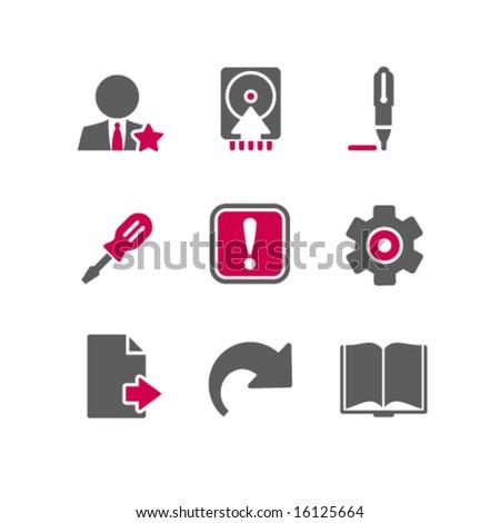 Color web icons, set 6