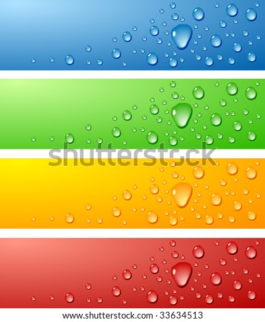 Color Wet surfaces. Vector illustration.