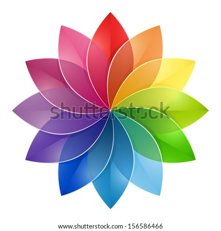Color Wheel Flower