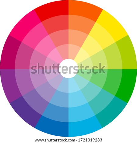 Color wheel isolated circle on white background vector illustration Zdjęcia stock ©
