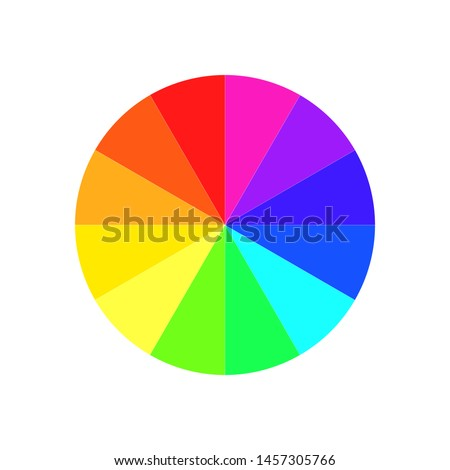 Color Wheel or Color Circle Picker Flat Vector Icon for Drawing Painting Apps and Websites.