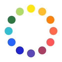 color wheel palette circles