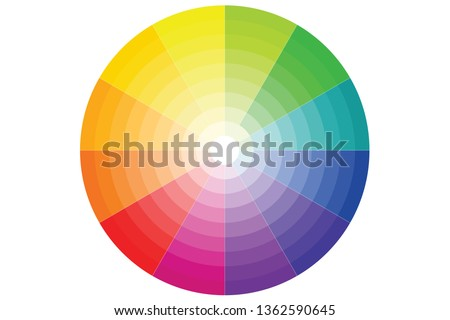 color wheel with all colors and
