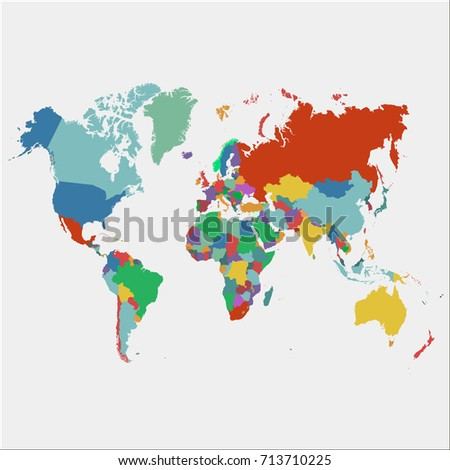 Color World map. #713710225