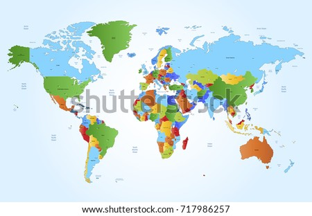 color world map #717986257