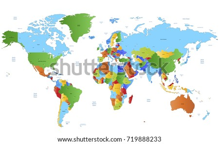 color world map #719888233