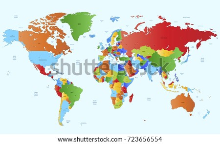 color world map #723656554