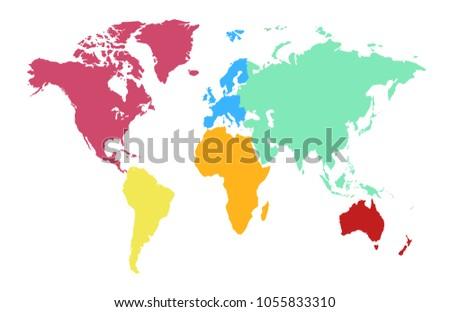 Colorful world map vector design descargue grficos y vectores gratis color world map vector gumiabroncs Choice Image