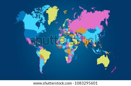 Vector de mapa de amrica del sur moderno descargue grficos y color world map vector gumiabroncs Images