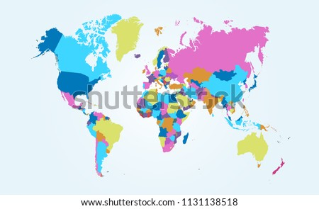 Color world map vector #1131138518