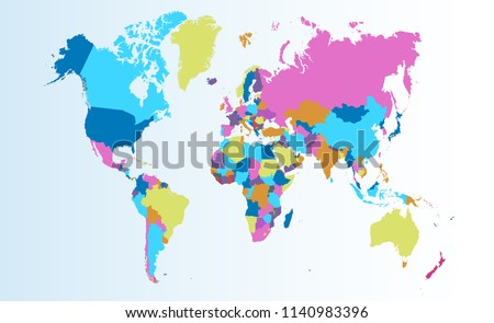 Color world map vector #1140983396