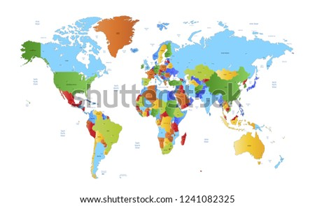 Color world map vector #1241082325