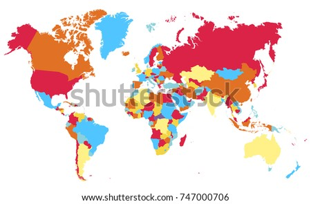 Color world map vector #747000706