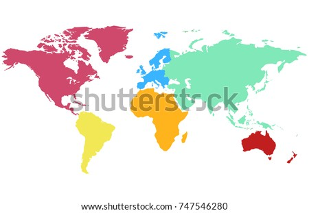 World continents map vector download free vector art stock color world map vector gumiabroncs Image collections